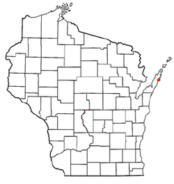 Location of Jacksonport, Wisconsin