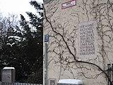 Gedenktafel zum Aufenthalt Wagners in München (Quelle: Wikimedia)
