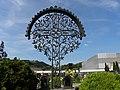 Waidhofen an der Ybbs - Friedhof - geschmiedetes Grabkreuz mit Vögeln.jpg