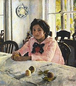 Валентин Серов. «Девочка с персиками» (Портрет Веры Мамонтовой), 1887, ГТГ