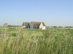 Walraversijde - Reconstructed fifteenth century fishermen cottages at the archeological site of Walraversijde; ca. 1465
