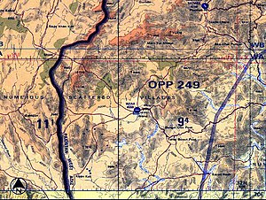 Battle of Wanna - Military Intelligence map: The area involved in the fighting.