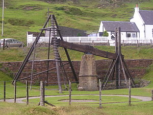 Beam engine - The remains of a water-powered beam engine at Wanlockhead
