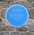 Warminster Maltings - Pound Street - Blue Plaque - geograph.org.uk - 946022.jpg