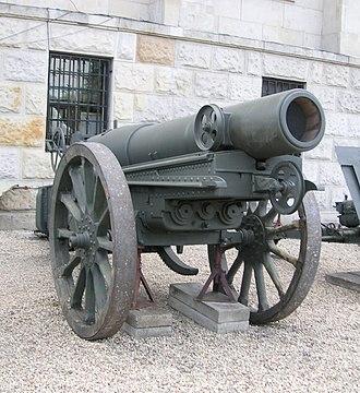 Mortier de 280 modèle 1914 Schneider - Image: Warsaw 280mm mortar 01
