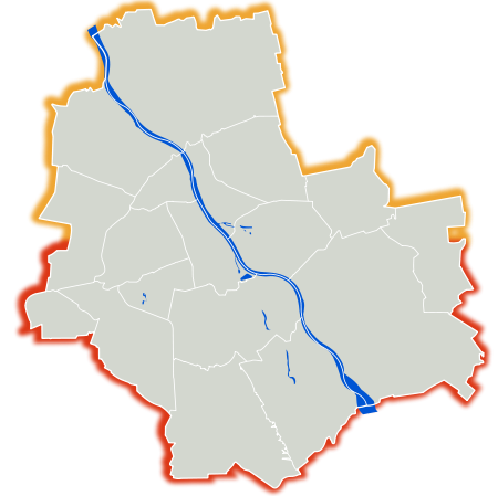 Warszawa outline with districts v2.svg