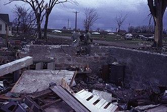 Waseca, Minnesota - A leveled house from the 1967 tornado