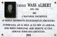 Description de l'image  Wass Albert Kőbánya.JPG.