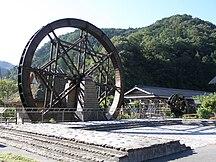 岡山縣-教育-Water wheels in Niimi, Okayama