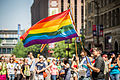 Waving Rainbow Flag - Twin Cities Pride Parade (9178644107).jpg