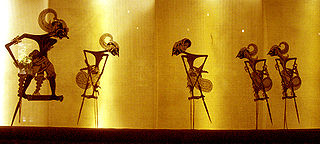 Wayang kulit form of Indonesian puppet-shadow play