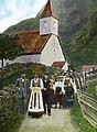 Wedding procession, ca 1915 (Fylkesarkivet i Sogn og Fjordane).jpg