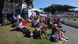 Basin Reserve - Crowd in a Test match Between England and New Zealand in Basin Reserve in 2008