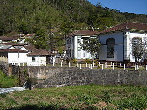 Renewable energy in Brazil - A small hydroelectric power plant in Wenceslau Braz, Minas Gerais.