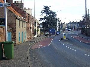 West Barns - Road through West Barns