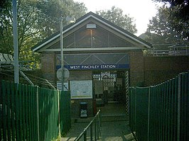 West Finchley station closed.jpg