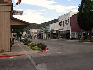 Siskiyou County, California - Image: West Miner Street in Yreka, CA