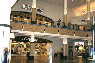 The Shoppes at Carlsbad - The JC Penney courtyard inside Westfield Carlsbad (2009).