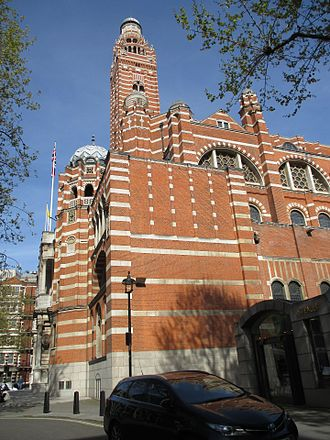 Westminster Cathedral - South-western elevation