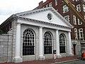 Westmorly Court entrance, Adams House, Harvard University, 13-21 Bow Street, Cambridge, Massachusetts.jpg