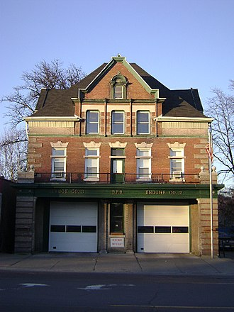 Binghamton Fire Department - Image: Westside Fire Station