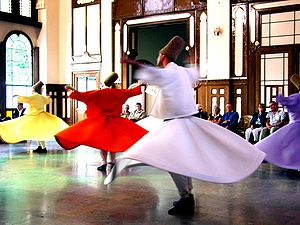English: Followers of the Sufi Mysticism. Two ...