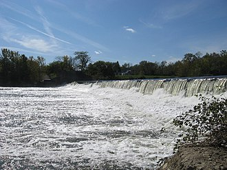 White River (Indiana) - A White River dam
