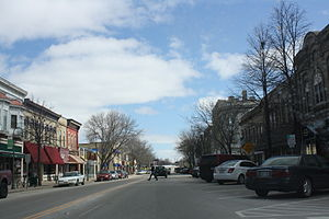 Whitewater, Wisconsin - Main Street, downtown Whitewater