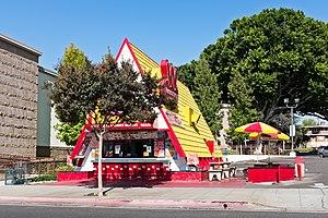 Wienerschnitzel - A-frame roof Wienerschnitzel restaurant in Whittier, California