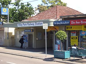 Wiley Park, New South Wales -  Wiley Park Station, King Georges Road