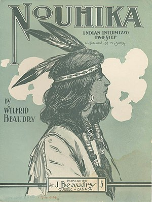 Wilfrid Beaudry - Wilfred Beaudry - Nouhika - sheetmusic cover (1904)
