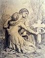 William-Adolphe Bouguereau - Mourning Women Kneeling at Grave - Walters 371408.jpg