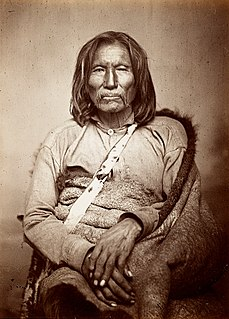 Sitting Bear prestigious Kiowa warrior and medicine man