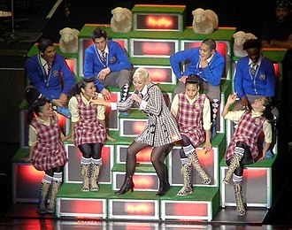 Wind It Up (Gwen Stefani song) - The stage was designed like a hill with sheep for performances on The Sweet Escape Tour, as a reference to a scene from The Sound of Music