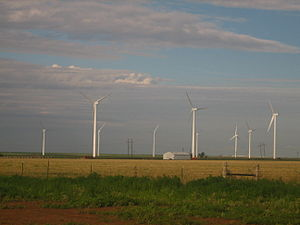 Windmills south of Dumas, TX