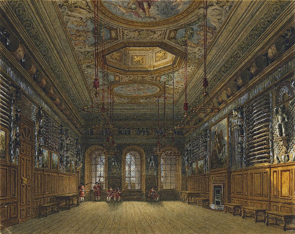 Виндзорский замок, Королевская гвардейская палата, по Charles Wild, 1818 - royal coll 922111 313691 ORI 1.jpg