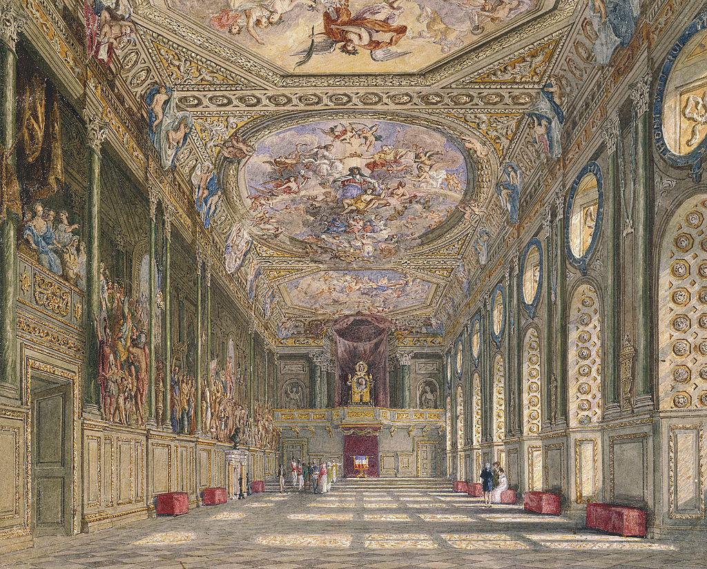Windsor Castle, St George's Hall, by Charles Wild, 1816 - royal coll 922112 313692 ORI 2.jpg
