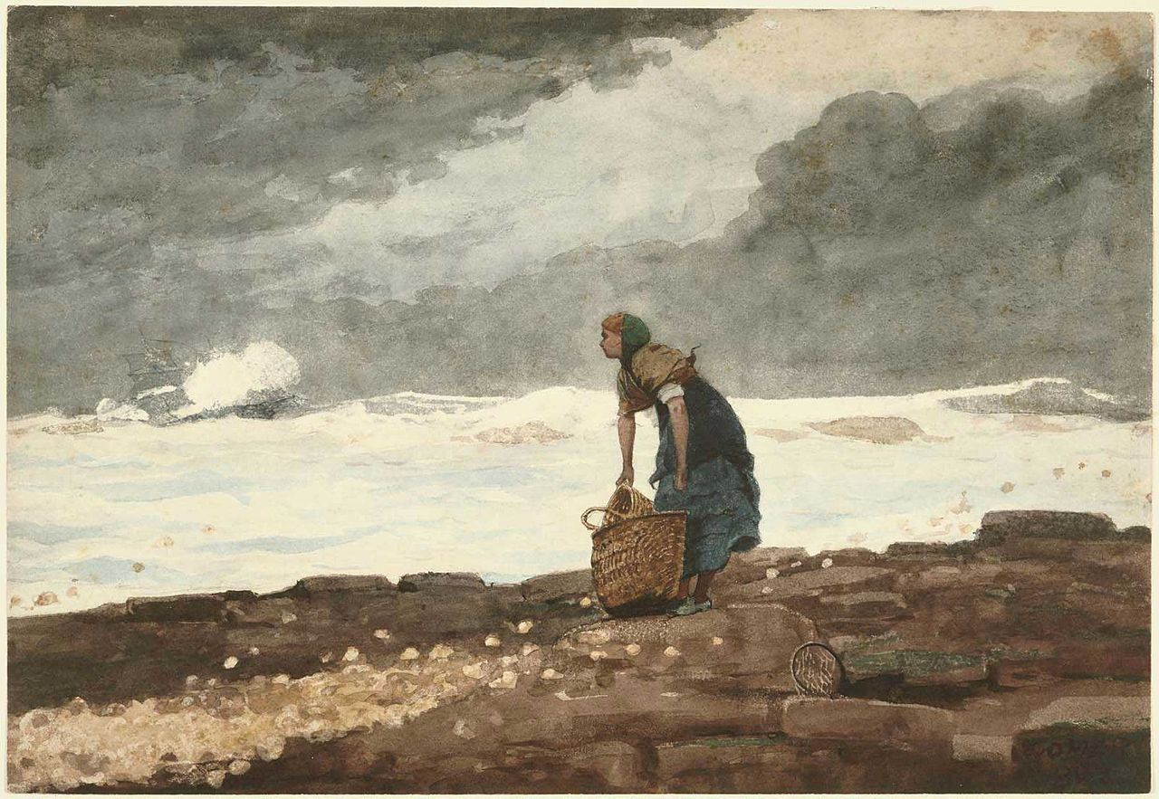File Winslow Homer Girl With Red Stockings 1882 Jpg