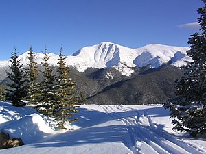 Winter Park Resort - View looking east at Parry's Peak from near the top of the Mary Jane.