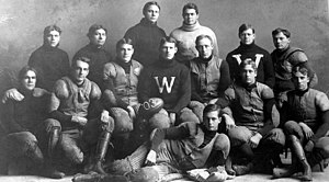 Bradbury Robinson - 1903 Wisconsin Badger football team; Robinson, front row, right