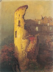 Ruine d'une tour du château d'Ojców