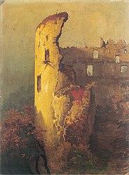 Wojciech Gerson: Ruins of Castle Tower in Ojców