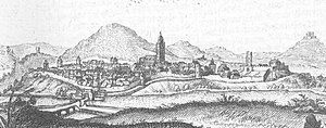 Wolfhagen - A Topographia Hassiae of Wolfhagen in 1655