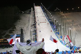 Mogul skiing - Slope for mogul skiing at the 2006 Winter Olympics
