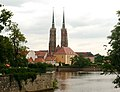 Wrocław Cathedral Church west towers 2007-07.jpg