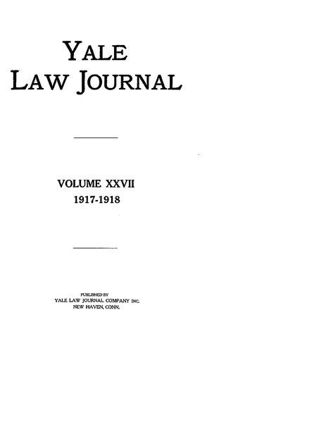 File:Yale Law Journal - Volume 27.pdf