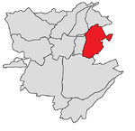 Nor Nork district shown in red