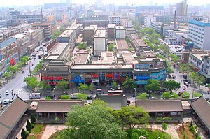 Ningxia - Aerial view of Yinchuan.
