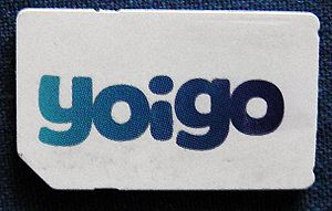 Yoigo SIM card with logo