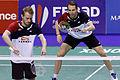 Yonex IFB 2013 - Eightfinal - Łukasz Moreń-Wojciech Szkudlarczyk — Mathias Boe-Carsten Mogensen 02.jpg